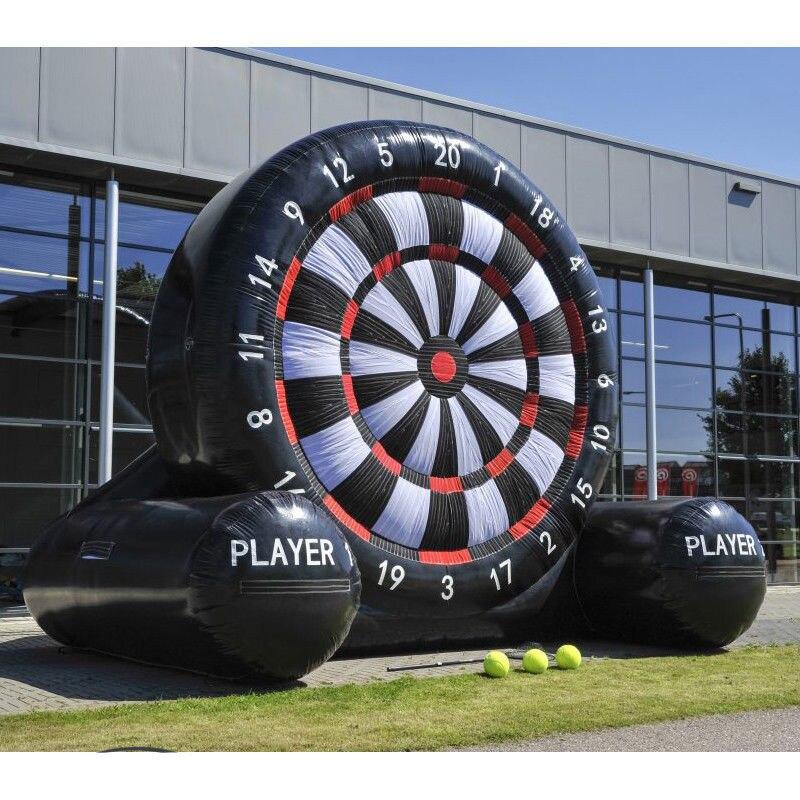 3 metros enorme de fútbol inflable tablero de dardos de fútbol al aire libre Juegos de Deportes inflables dardos juego con 220 V aire soplador