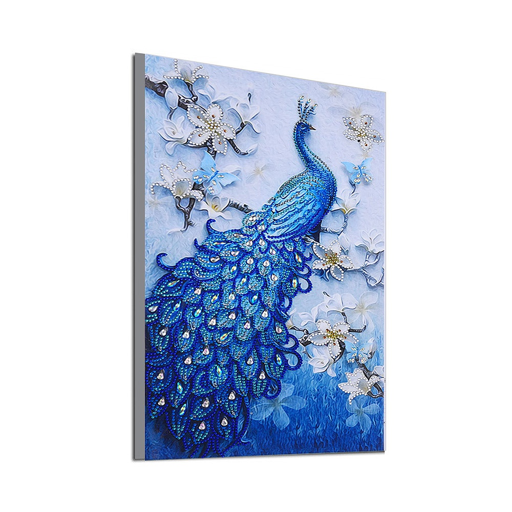 Photo Custom! 5D Peacock Special Shaped Diamond Painting Diamond Embroidery Animal Diamond Cross Stitch Home Decor