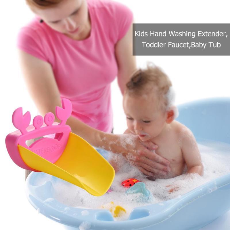 1 set Cartoon Crab Kids Hand Washing Extender Toddler Faucet Baby
