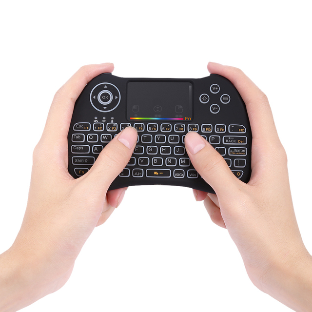 H9 2.4GHz Wireless Mini Keyboard Backlight Function With Touchpad Support RGB English