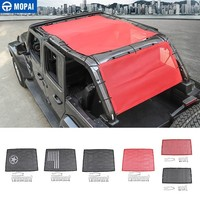 MOPAI Car Top Sunshade Cover for Jeep Wrangler JL 2018 Car Trunk Roof Anti UV Sun Protect Insulation Net for Jeep JL Accessories
