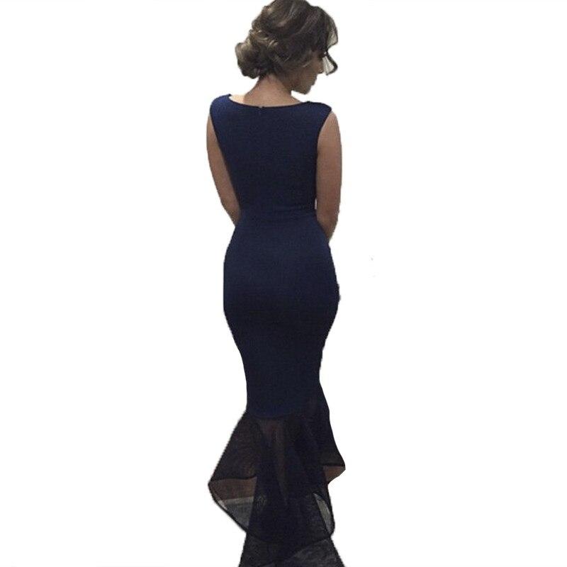 35392960a Mangas Pez Vestidos Slim Sin De Formal Sólido Encaje Patchwork Largo Noche  Cola Vestido Mujer Moda Fiesta wfvRWaqAa
