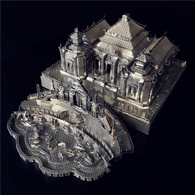 MMZ MODEL 3D Metal Puzzle Model Kits Dashuifa Of Old Summer Palace DIY Assemble Puzzle Laser Cut Jigsaw Building Toys Gif