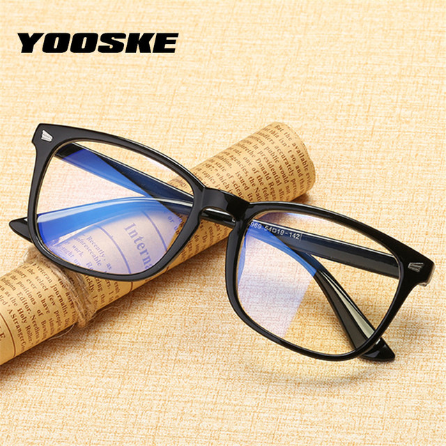 YOOSKE Blue Light Blocking Glasses Retro Optical Glasses Frame Women Men Eyeglasses Frames Computer Eyewear