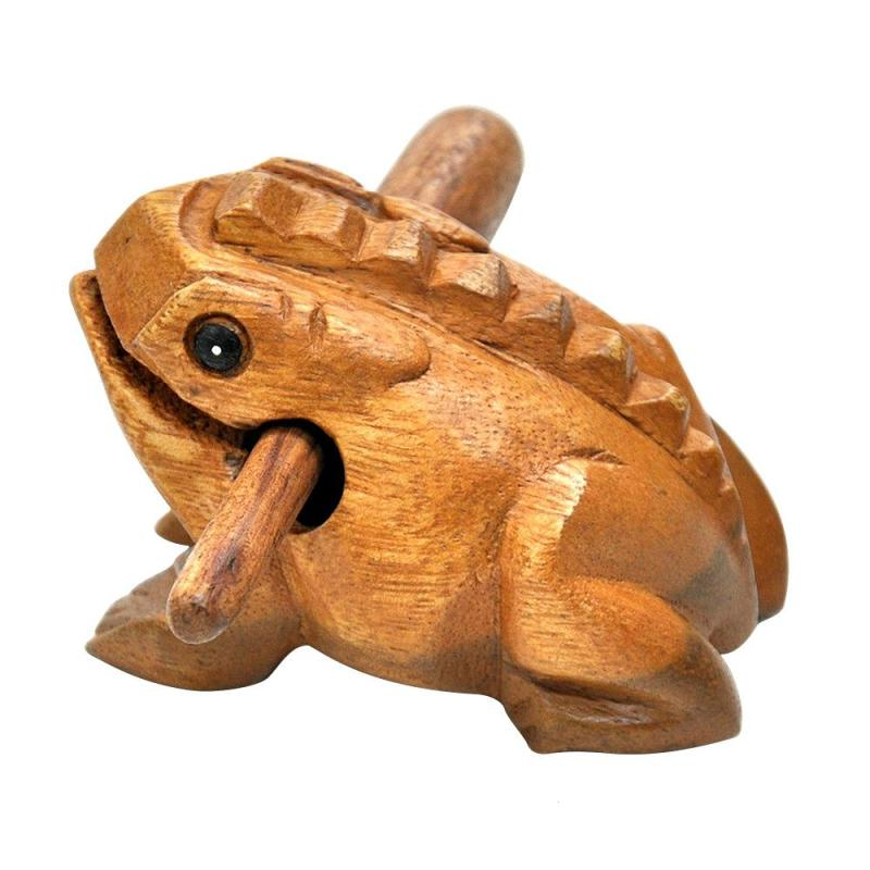 Craft Thailand Traditional Figurines Lucky Frogs Wooden Feng Shui Decoration