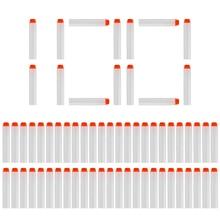 100個darts for nerfホワイト発光ソフト中空穴ヘッド7.2センチメートルリフィルダーツおもちゃの銃弾丸ポイントでnerfシリーズブラスタークリスマス