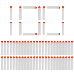 100PCS Darts For Nerf white Luminous Soft Hollow Hole Head 7.2cm Refill Darts Toy Gun Bullets for Nerf Series Blasters Xmas(China)