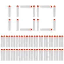 100PCSลูกดอกสำหรับNerf White Luminous Soft Hollow Holeหัว7.2Cmเติมลูกดอกกระสุนปืนของเล่นสำหรับNerf series Blasters Xmas