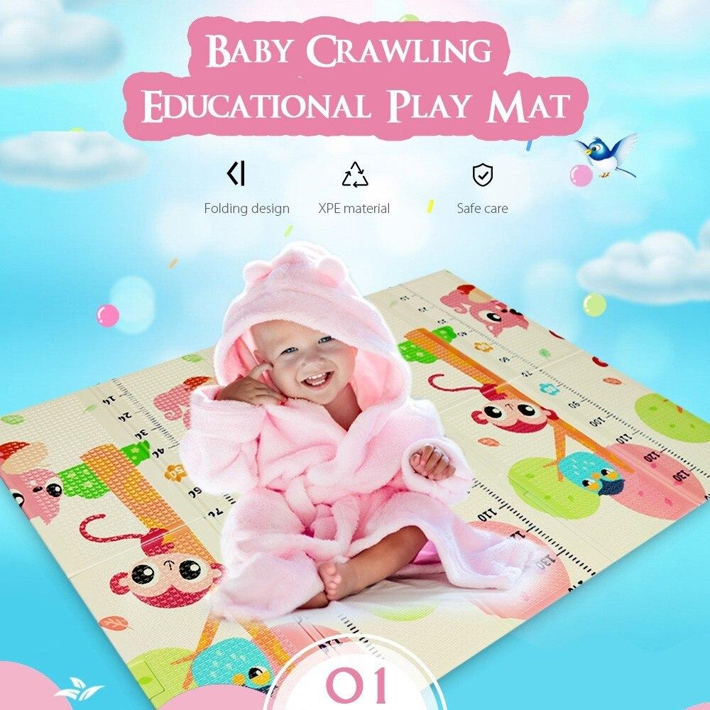 Tapis de jeu pour bébé XPE Double face Puzzle enfants tapis épaissi Tapete Infantil chambre ramper tapis pliant tapis bébé