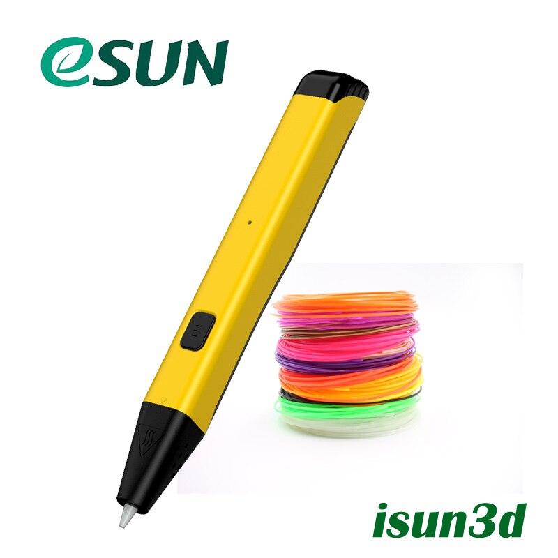 Esun date LTP4.0 3D stylo d'impression gratuit 1.75mm PCL Filament Protection basse température pour enfant cadeau jouet USB 3d stylos