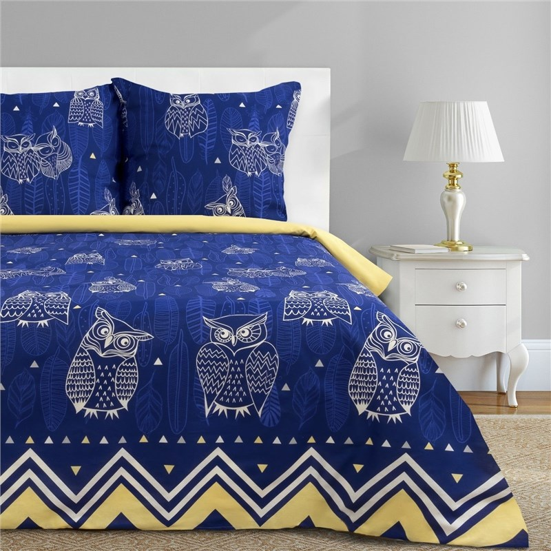 Bed Linen Ethel Euro Ушастые Owl (Type 3) 200x217 cm, 220x240 cm, 70x70-2 pcs, calico calico print crochet back mix