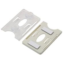 LEEPEE uchwyt na karty Sucker na przednia szyba Tag trwały identyfikator karta elektroniczna uchwyt na kartę rękaw samochodowy