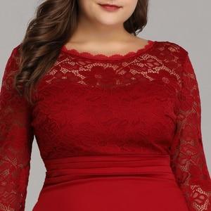 Image 5 - Kiedykolwiek ładne suknie wieczorowe długie 2020 czarna syrenka z długim rękawem koronkowa zimowa jesień satynowa elegancka, długa sukienki na przyjęcie na ślub