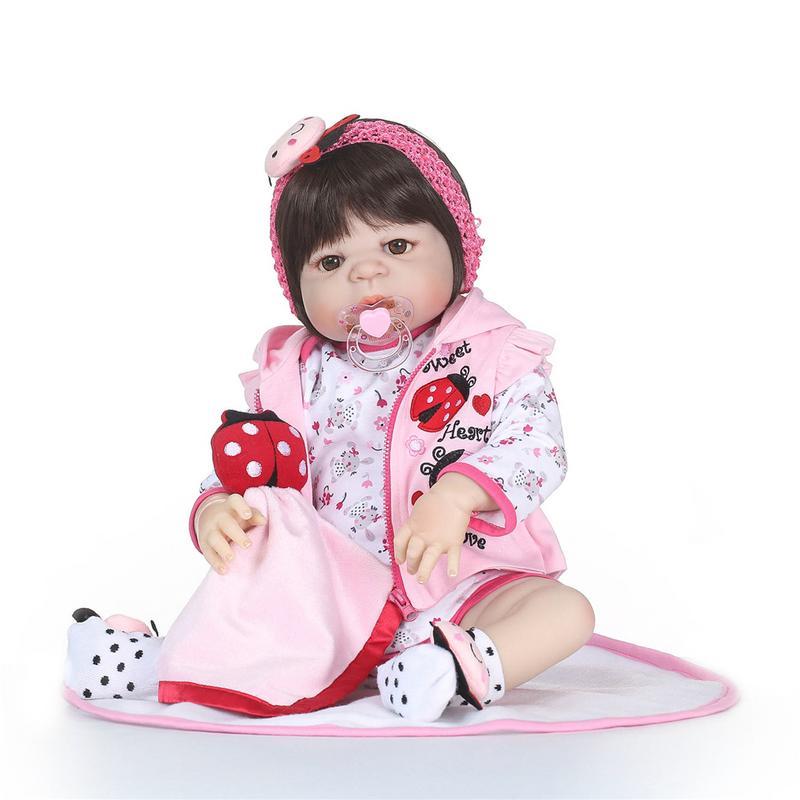 Réaliste Silicone Reborn bébé poupées bébé vivant réaliste réaliste vraie fille poupée lavable Reborn poupée pour fille cadeau d'anniversaire
