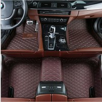 For BMW X5 F15 2014 2015 2016 2017 2018 Car Front Rear PU Leather Floor Mats Set Liner Waterproof 5 Seat Mat