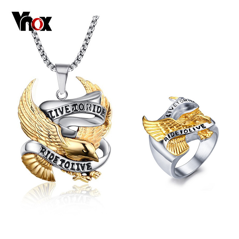 Vnox Men Ring Necklace...
