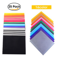 7a9fe06fa 25Pcs Assorted Colors 25Pcs Dye Sublimation Heat Transfer Vinyl Film Paper  for Polyester Cotton T- Shirt Cup Case 300X250mm