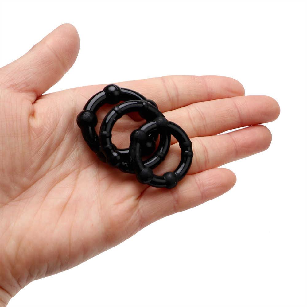 OLO 3 pièces/ensemble prépuce pénis anneau retard éjaculation coq anneau serrure Silicone mâle pénis manchon produits de sexe jouets pour hommes