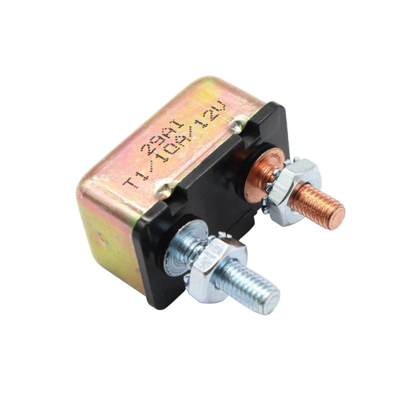 10 Amp 12v  24v Circuit Breaker With Cover Auto Reset Dual Battery 10a Caravan Fuse