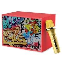 Sk500 Bluetooth Speaker With Wireless Microphone Karaoke Speaker Wireless Stereo Home Party Super Speaker Box(Us Plug)