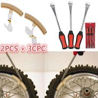 5Pcs Motorcycle Tire Tool 3Pcs Tire Lever Tool Spoon+2 Piece Protector Spoon Set