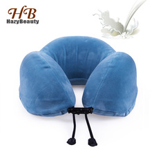 Natural Latex Neck Cervical Pillow U-shaped Travel Pillow Solid Neck Orthopedic Healthcare Accessories for Airplane Cushion Neck xiaomi pillow 8h z2 natural latex elastic soft pillow neck protection cushion best environmentally safe material for smart home
