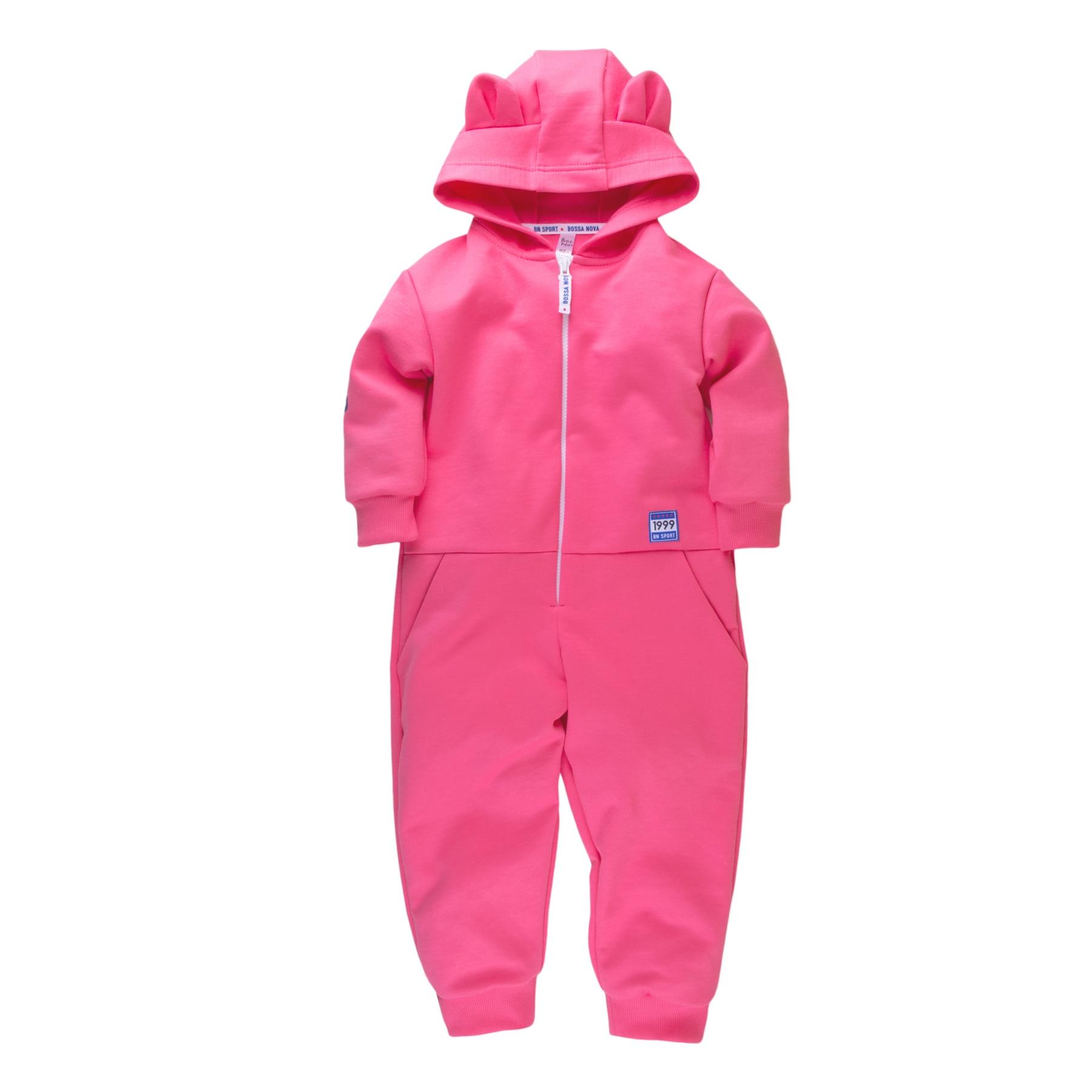 Hooded jumpsuit for girls BOSSA NOVA 500B-462p kid clothes newborn baby boy girl infant warm cotton outfit jumpsuit romper bodysuit clothes