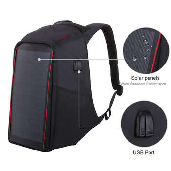 12W Flexible Solar Panel Power Backpack 3