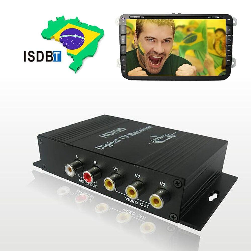 Voiture Auto DVD moniteur numérique TV Box sud-américain terrestre ISDB-T récepteur TV Tuner 4 vidéo sortie antenne vue gratuite canal HD - 3