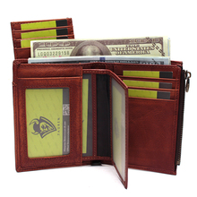 Men's Handmade Wipe Color Wallet Detachable Multi-Function Leather Large-Capacity Wallet Small Wallet