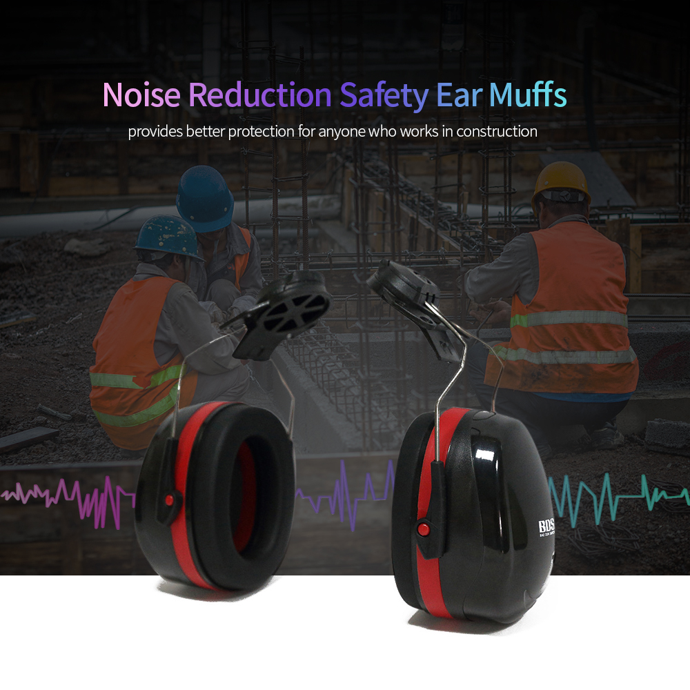 Hard Hat Mounting Ear Muffs Cap Mount Protective Earmuffs Noise Reduction Ear Covers Noise-cancelling Helmet AttachableHard Hat Mounting Ear Muffs Cap Mount Protective Earmuffs Noise Reduction Ear Covers Noise-cancelling Helmet Attachable