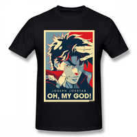 Jojo Bizarre Adventure Vintage Joestar Joseph OH MY GOD letter T-shirt For Men Plus Size Cotton cool Tee Shirt S-3XL Camiseta