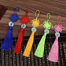 10 Pcs New Polyester Chinese Knots Knotting Imitation White Jade Tassel Style Gifts Curtain Dress Fringe Trim Decoration