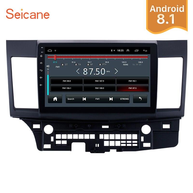 Seicane 2Din Android 8.1 10.1 Écran Tactile GPS De Voiture Radio Audio Stéréo Multimédia Lecteur Pour 2008 2009-2015 Mitsubishi lancer-ex