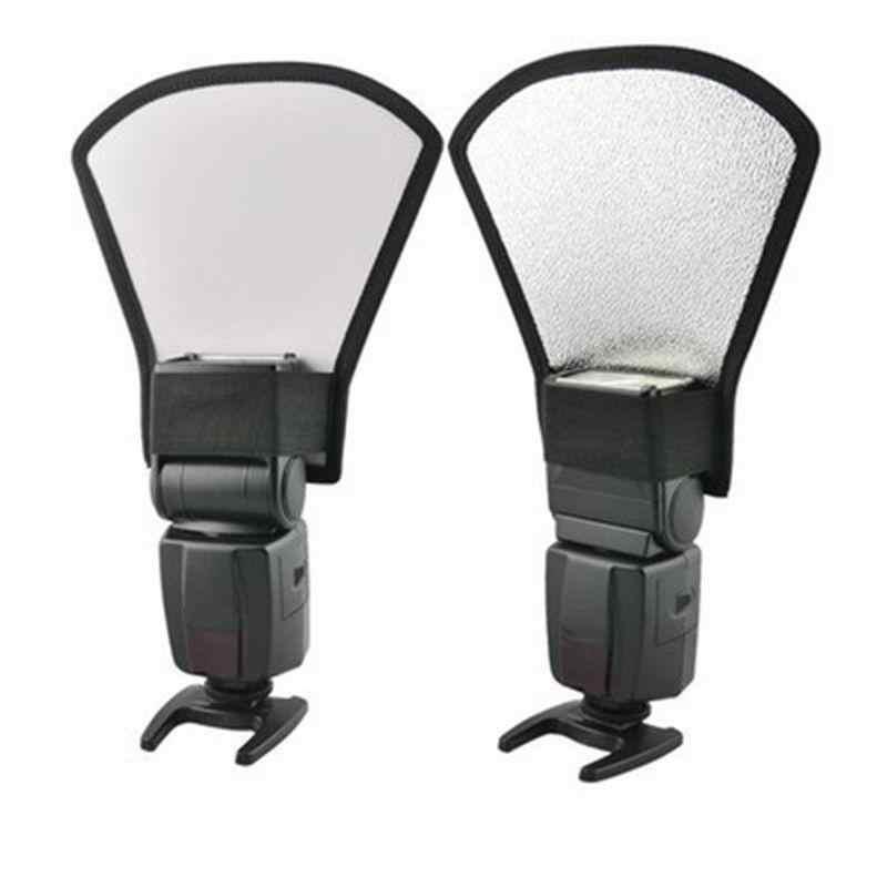 EastVita caméra Flash diffuseur Softbox Photo argent blanc Flash réflecteur pour appareils Photo reflex Canon