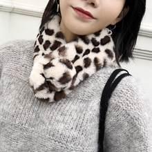 505ba2c8862 Femmes hiver chaud doux imprimé léopard fausse fourrure écharpe col cou  Wrap(China) · 5 Couleurs Disponibles