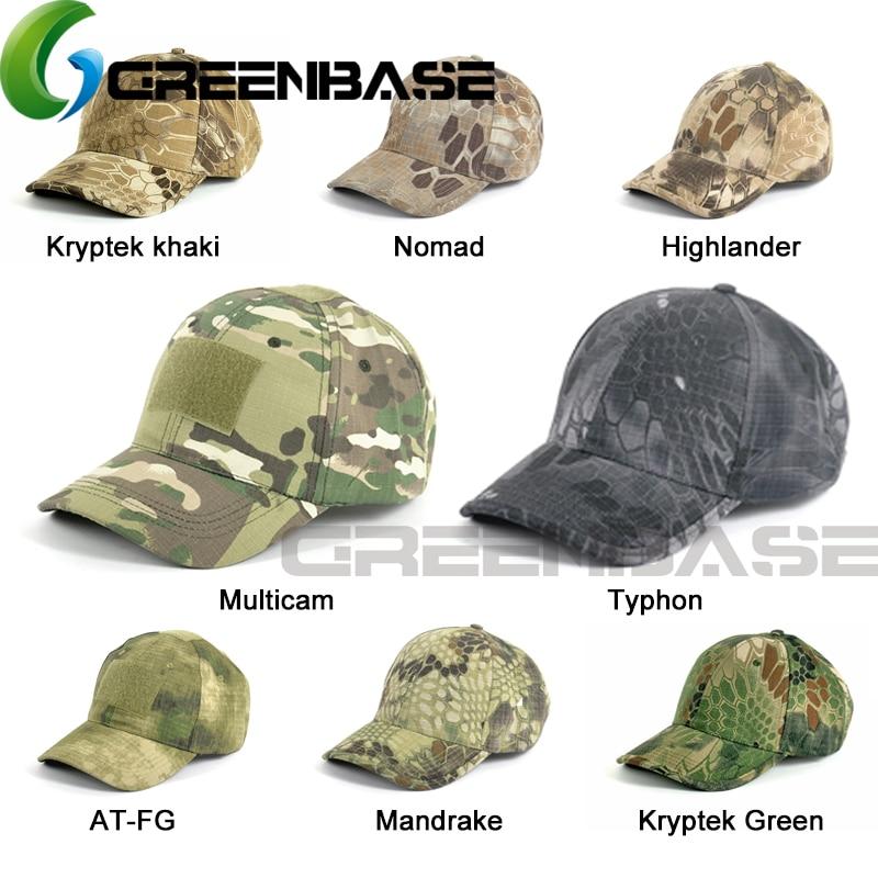 GREENBASE Typhon Colors Tactical Hunting Cap Outdoor Sports Hat Kryptek Green Nomad Multiple Camouflage Mandrake Baseball Cap Велюр