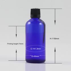 Дорожный инструмент 10 мл синий стеклянный эфирное масло бутылка для макияжа парфюмерная стеклянная бутылка портативный инструмент