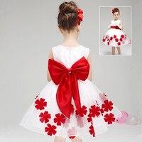 Children Female Princess Dress Girls Married Late Spring Autumn And Winter Flower Girl Wedding White Tutu Dress Ball Gown