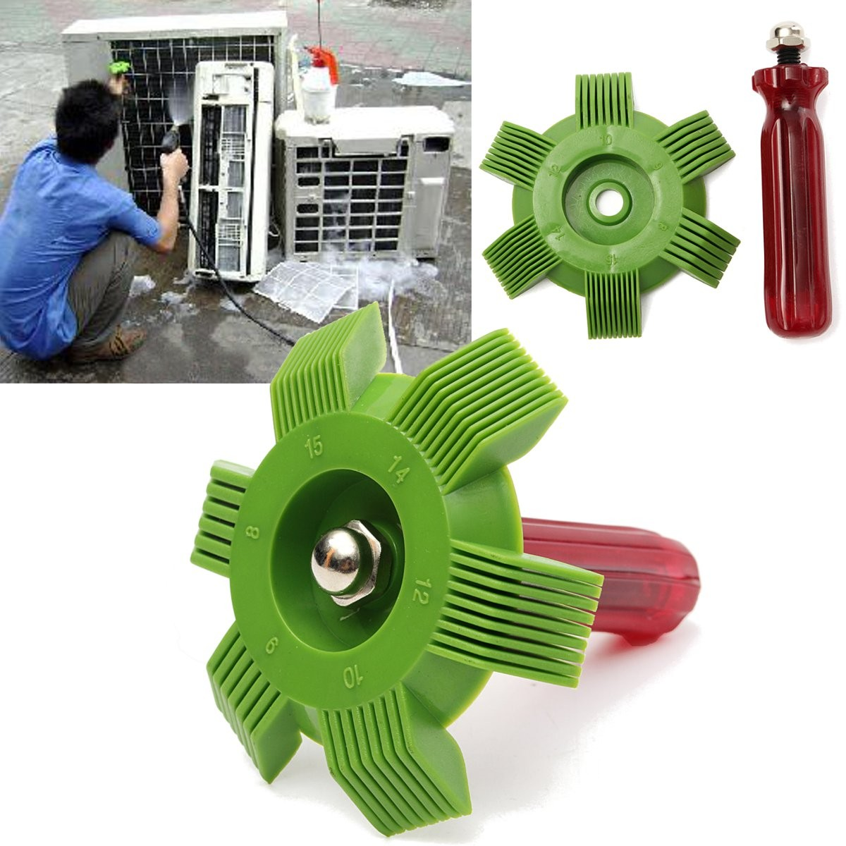 Universal Radiator Condenser Fin Comb Air Conditioner Coil Straightener Cleaning Tool Air Conditioner Home Appliance Part New