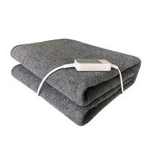 Зимнее электрическое одеяло, теплый коврик с подогревом, покрывало под кровать, матрас из нетканого материала, одеяло, регулируемое, 3 цвета, 150*75 см