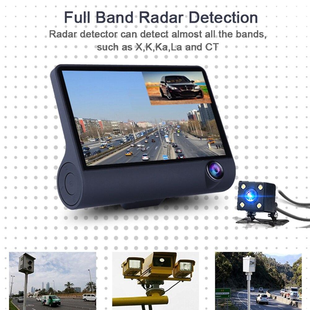 Авто 3 в 1 Радар автомобилей DVR, gps трекер 4,0 дюймов 3 Way камеры видео Регистраторы Антирадары, быстрая камера, видеокамера, Русская озвучка - 4