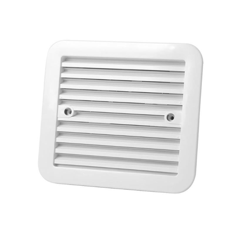 12V Fridge Vent with Fan for RV Trailer Caravan Side Air Ventilation White Car Stying Accessories