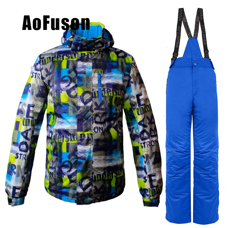 Ski wear jacket&pants . warm breathable wear-resistant windproof and waterproof professional ski suit for men snowboard coat setSki wear jacket&pants . warm breathable wear-resistant windproof and waterproof professional ski suit for men snowboard coat set