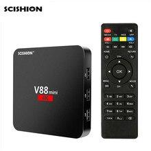 SCISHION V88 mini Smart Android 6,0 ТВ коробка 4 ядра RK3229 1 GB 8 GB 4 K Smart Set top Box H.265 32 бита Media Player