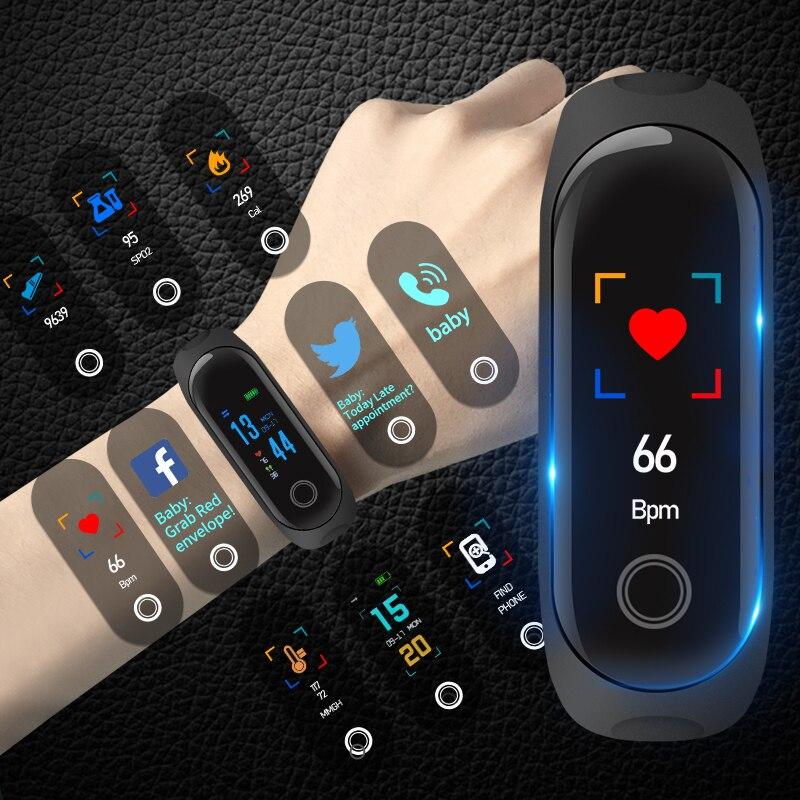 SENSTHEN цвет экран для мужчин's женщин браслет приборы для измерения артериального давления сердечного ритма мониторы спортивные часы