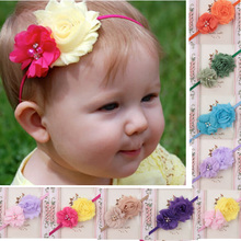 Floral Elastic Hairband Kids Girl Baby Toddler Infant Flower Headband Hair Bow Band Hair Accessories Baby Girl стоимость
