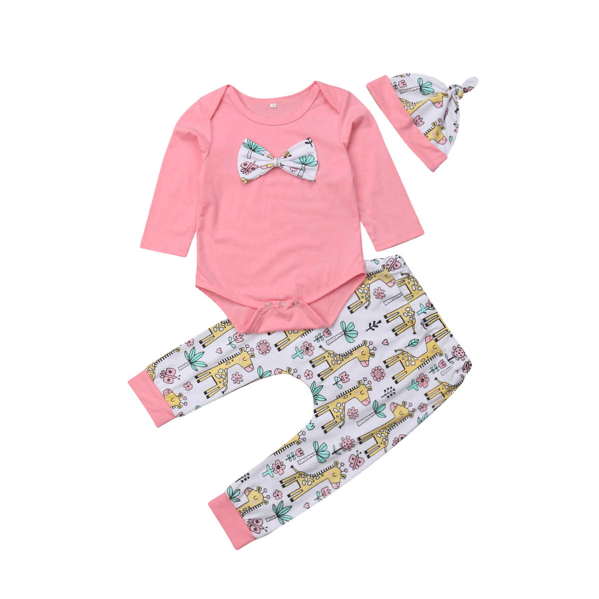 c30f322d313 Detail Feedback Questions about 3Pcs Newborn Baby Girl Clothes ...
