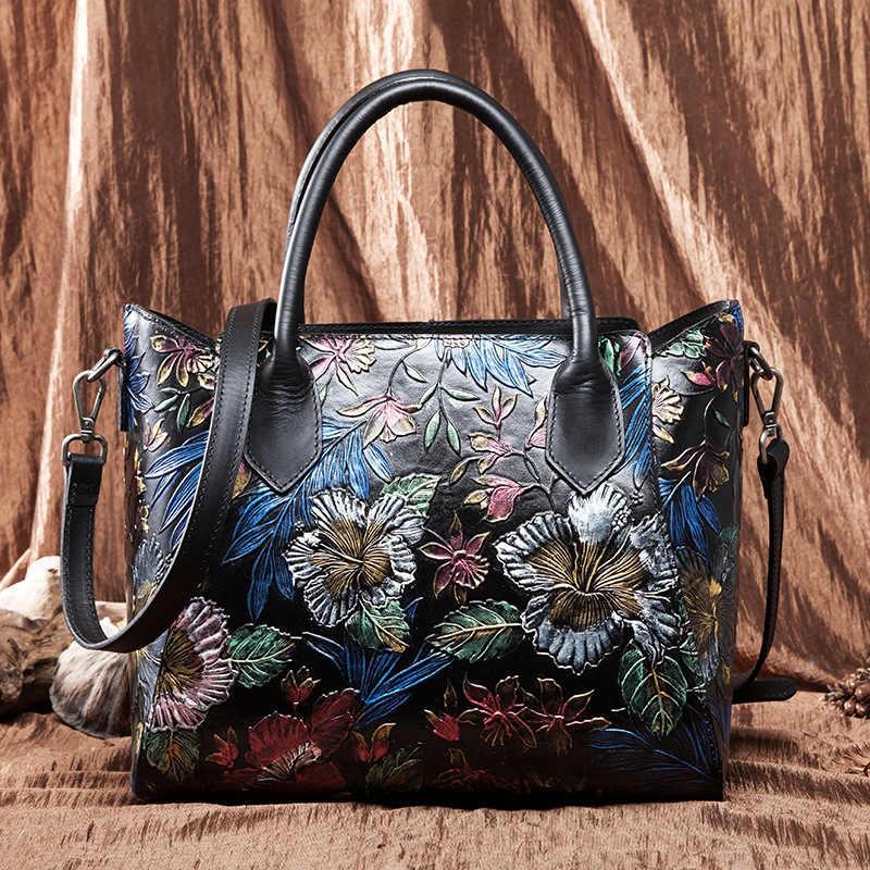 高品質本物のエンボス革トップハンドルバッグトートバッグ大容量女性自然な肌ショルダーバッグショッピングバッグ