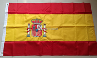 Double sided Embroidered Sewn Spain Flag Spanish National Flag World Country Banner Oxford Fabric 3x5ft, free shipping